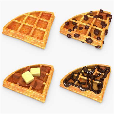 Waffle Set max realistic waffle v2 set
