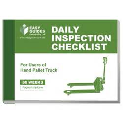daily inspection checklist for hand pallet trucks