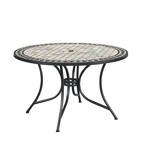 home styles marble top  outdoor dining table