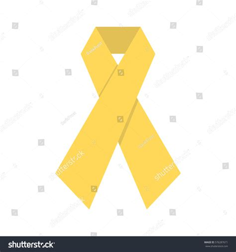 Flat Gold Ribbon flat gold ribbon day childhood cancer stock vector
