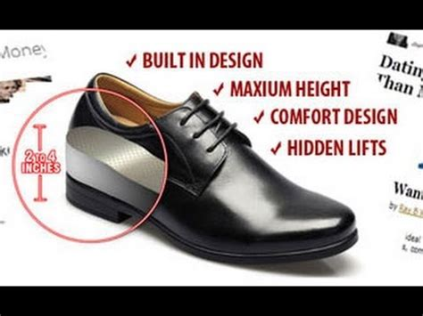 elevator shoes shoes that make you get few inches taller elevator shoes for short men to look taller youtube