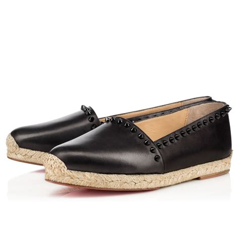 Flat Black Leather ares flat black leather shoes christian