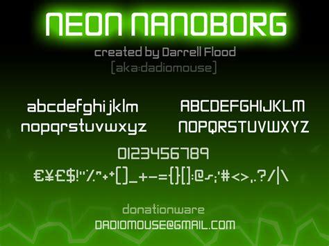 dafont neon neon nanoborg font dafont com