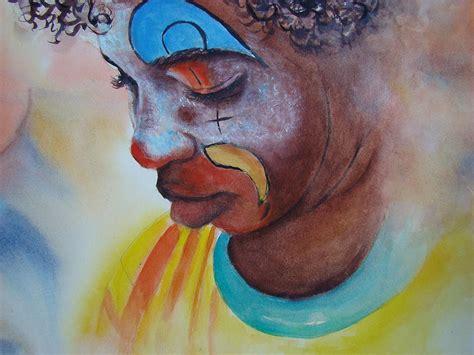 clown paint sad clown painting by myra