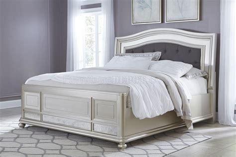 silver bedroom furniture coralayne b650 bedroom in silver finish by ashley furniture