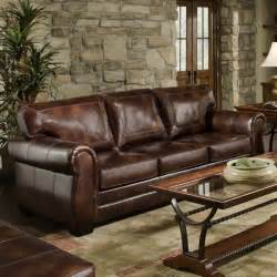 Simmons Leather Sofa Simmons Encore Vintage Leather Sofa Traditional Sofas By Hayneedle