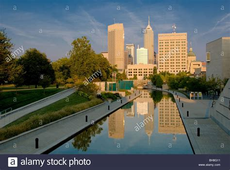 park indianapolis the central canal walk in the white river state park an state stock photo