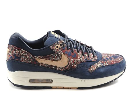 Nike Airmax 1 Blue Navy nike wmns air max 1 liberty qs armory navy vachetta in blue for navy lyst