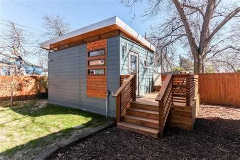 Cabin Home Plans Modern And Minimalist Kanga Tiny House In Austin Tx