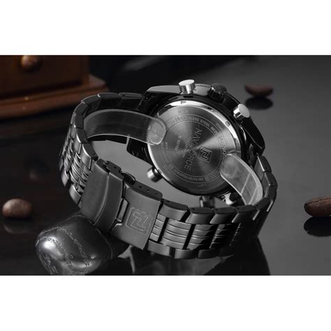 Jam Tangan Pria Gps navi jam tangan analog pria 9024 black jakartanotebook