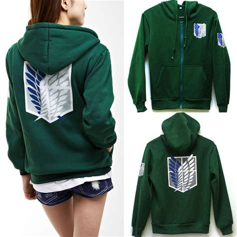 Sweater Jaket Attack On Titan Snk Sporty All Edition shingeki no kyojin scouting legion costume element bape anime bat hoodie lover attack on titan
