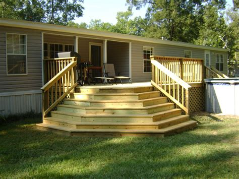 home deck plans covered wood deck on mobile home joy studio design