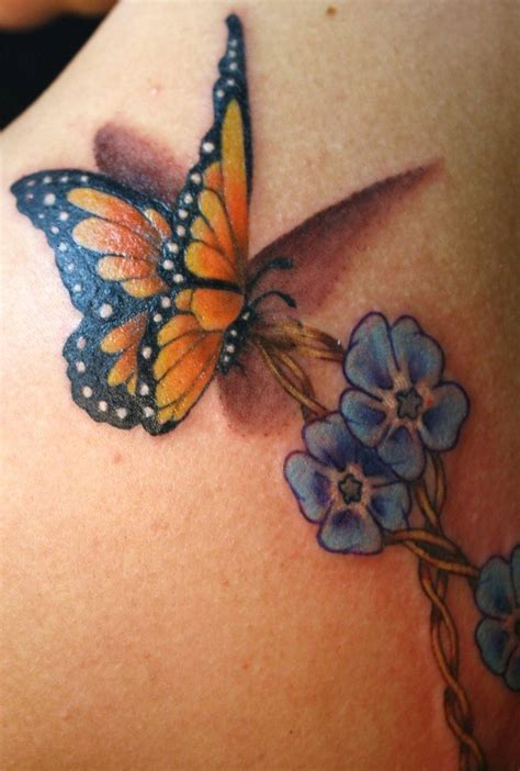 monarch butterfly tattoos monarch butterfly with flowers tattooshunt