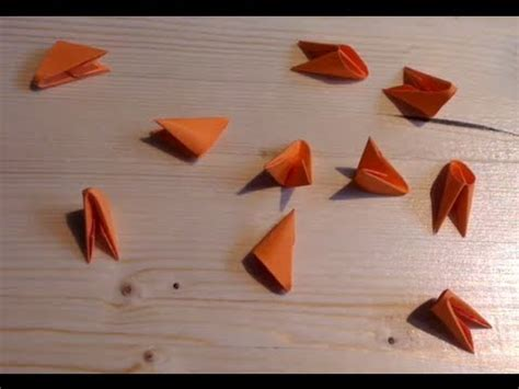 How To Make 3d Triangle With Paper - how to make 3d origami triangle units