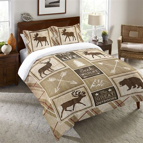 Cabin Duvet Cover country cabin duvet cover laural home