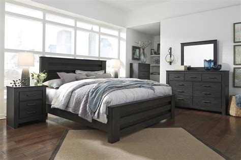 6 Size Bedroom Set by Brinxton B249 King Size Poster Bedroom Set 6pcs In