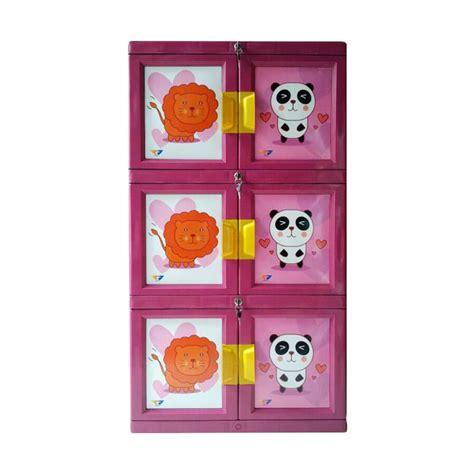 Lemari Plastik Isi 3 jual venus plastik lemari pakaian pink 3 susun