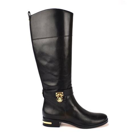 michael michael kors aileen black leather boot