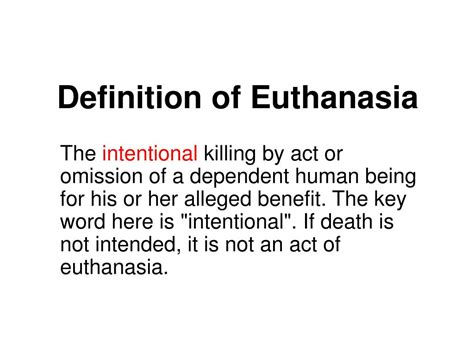 ppt definition of euthanasia powerpoint presentation