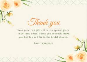 pink border bridal shower thank you card templates by canva