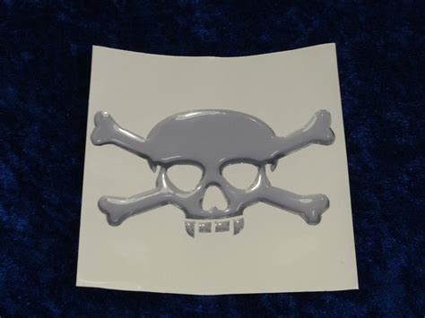 Totenkopf Sticker Klein by Chrom 3d Sticker Totenkopf Klein Valkyrie Part S