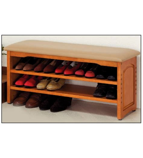 wood shoe rack mango wood shoe rack by mudramark shoe racks