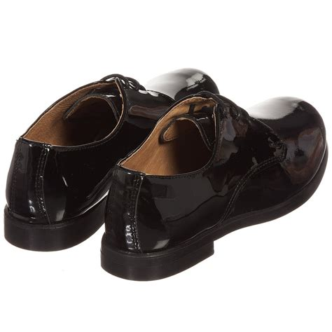 children s classics boys black patent leather lace up