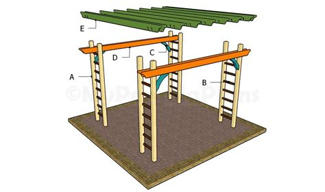 arbor building plans pergola with swing plans howtospecialist how build step