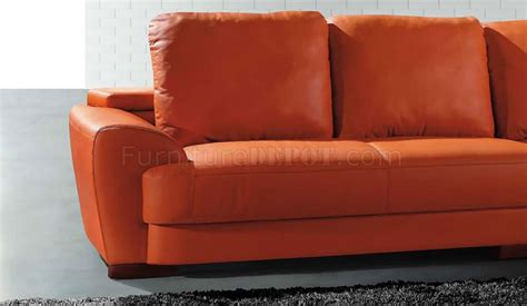 Orange Modern Sofa Modern Sectional Sofa 7 Orange