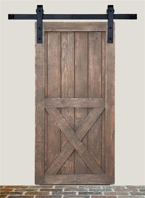 exterior barn door hardware barn door track system in iron square end matte black