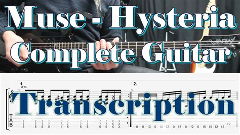 tutorial gitar muse hysteria muse hysteria guitar lesson how to play tab tutorial