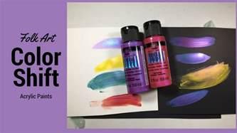 folk art color shift acrylic paint youtube