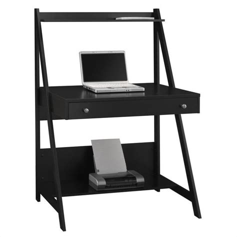 Ladder Desk bush myspace alamosa wood ladder desk in black my72701 03