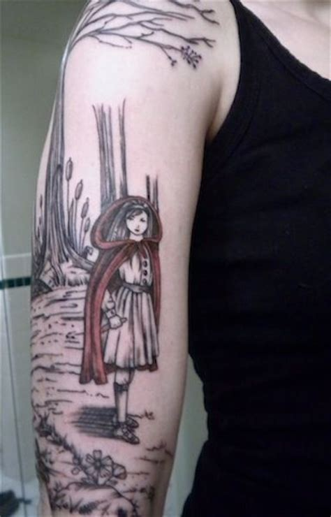 tattoo nightmares red riding hood red riding hood sleeve tattoos and red ridding hood on