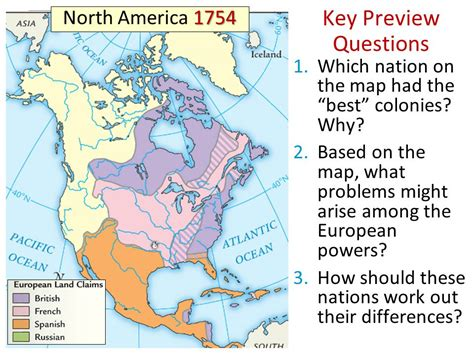 america map in 1750 essential question how did imperial competition between