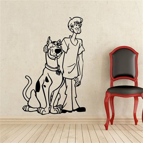 scooby doo wall stickers scooby doo wall decal shaggy rogers scooby doo vinyl