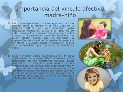 libro el vnculo afectivo con importancia de la madre en el vinculo con el ni 241 o a