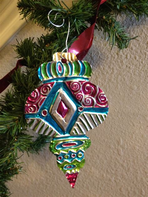 christmas projrct for elementary aluminum foil metal embossing repousse ornament create with me