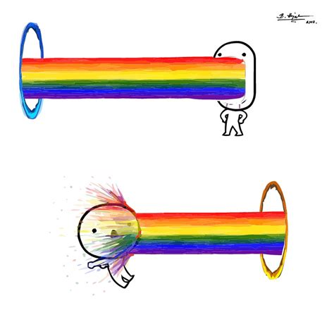 Puking Rainbow Meme - when portal meets rainbow puke by hajnita on deviantart