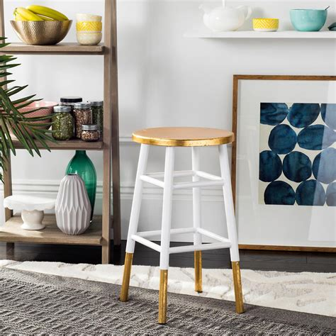 Safavieh Emery Counter Stool by Safavieh Emery 24 In Dipped Gold Leaf Counter Stool In