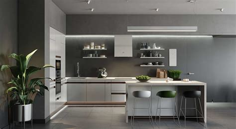 modern kitchen interior 3d rendering 3d architecture rendering for a splendid kitchen design