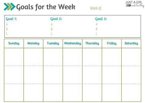free printable monthly goal sheets weekly goals printable free printable mom 4 real