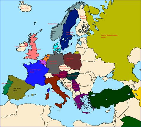 map without country names europe what if all place names were translated western europe