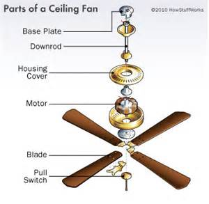 Ceiling Fan Electrical Parts How Do Ceiling Fans Work Heating And Cooling Systems For