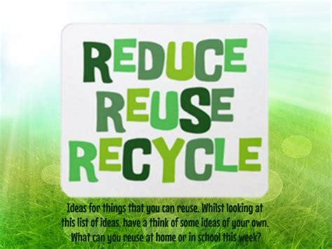 Reduce Reuse Recycle By Uk Teaching Resources Tes Reduce Reuse Recycle Ppt