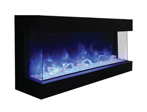 sided electric fireplace amantii 60 tru view xl 3 sided electric fireplace
