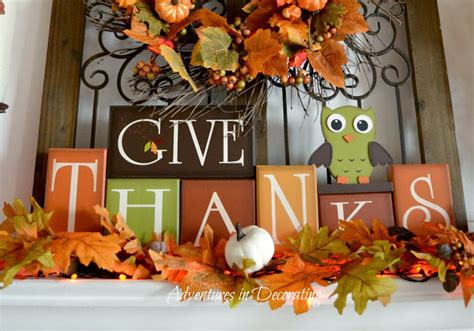 september early fall mantel owl decor a pop of pretty adventures in decorating september 2013