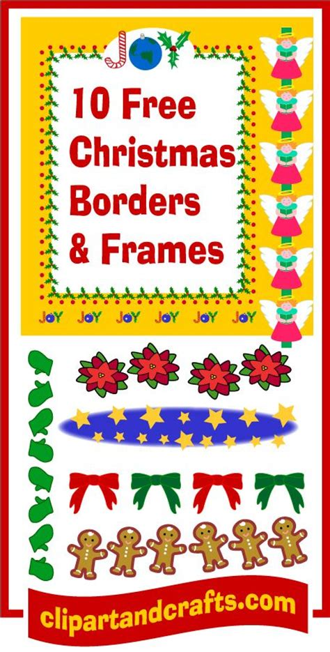 printable christmas paper frames 27 best clip art borders and frames images on pinterest