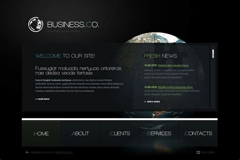 management company flash cms template 44671