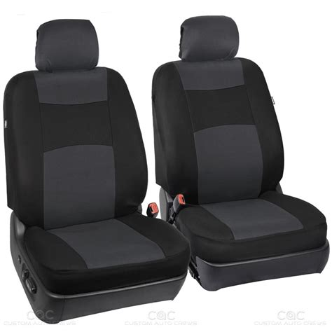 integrated headrest seat covers black charcoal seat cover for car auto suv polyester